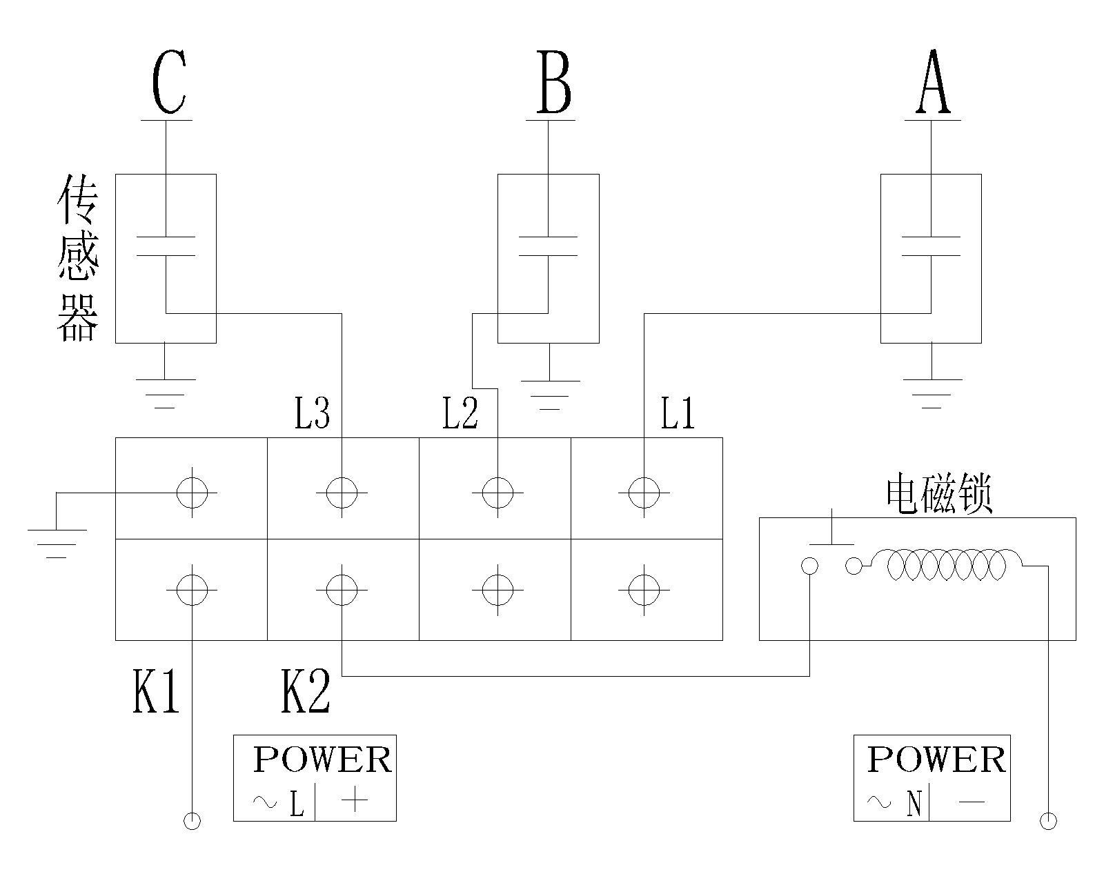 q1b(q3b)闭锁型高压带电显示装置接线图